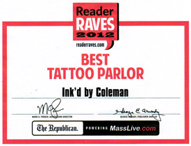 Reader Raves Best Tattoo Parlor 2012 - MassLive