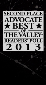 Second Place Advocate Best of the Valley Readers' Poll 2013