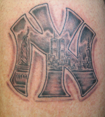 Ink 39 d by coleman custom tattoos by scott coleman for New york yankees tattoo